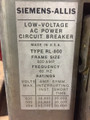 RL-800 Siemens-Allis 800A MO/DO LSIG Air Circuit Breaker W/AC-PRO