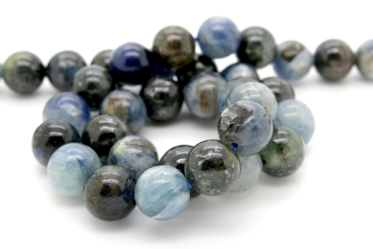 Angelite Loose Beads 8mm Natural Round Smooth Long Blue Gemstone One Size Strand