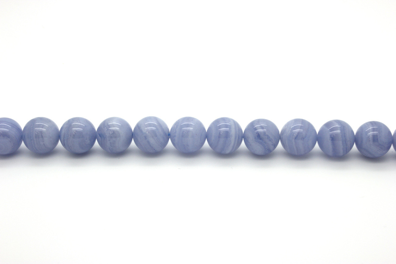 36 Inch Strand Glass 6mm Round Transparent Cobalt Blue Beads