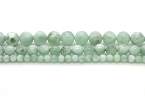 Full Hank of 8.5-14mm Green Quartz Smooth Wheel Natural Gemstone Beads SKU#19595 CLOSEOUT SALE Total 2 Strands of 16 Inches