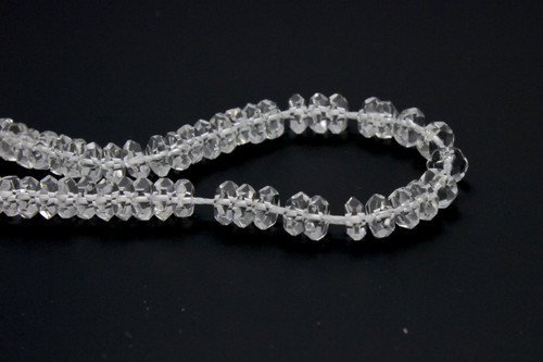 150pcs x 6mm Clear Faceted Round Beads
