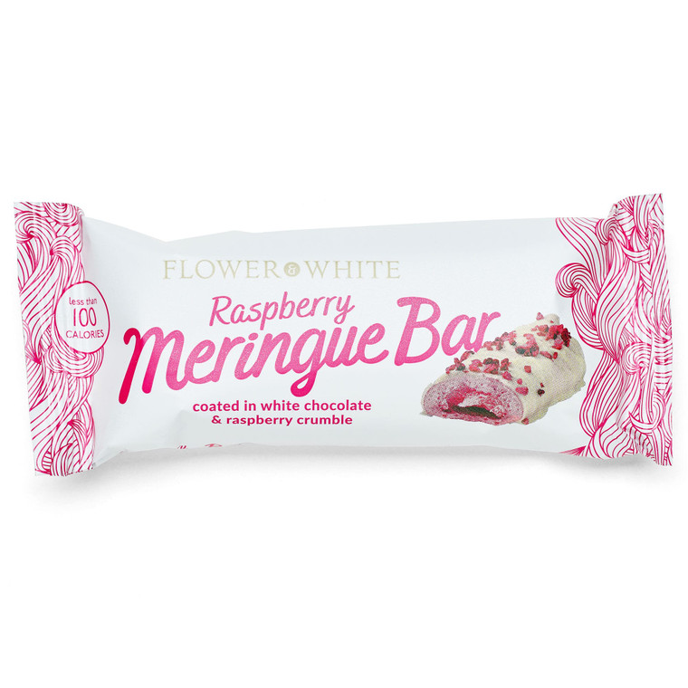 Flower & White Gluten Free Raspberry Meringue Bars - 12x23.5g
