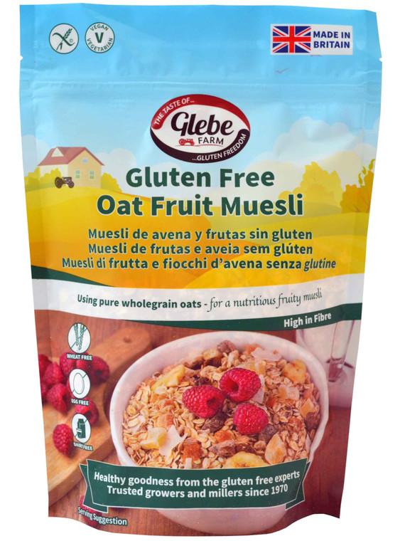 Glebe Farm Gluten Free Oat Fruit Muesli - 6x400g