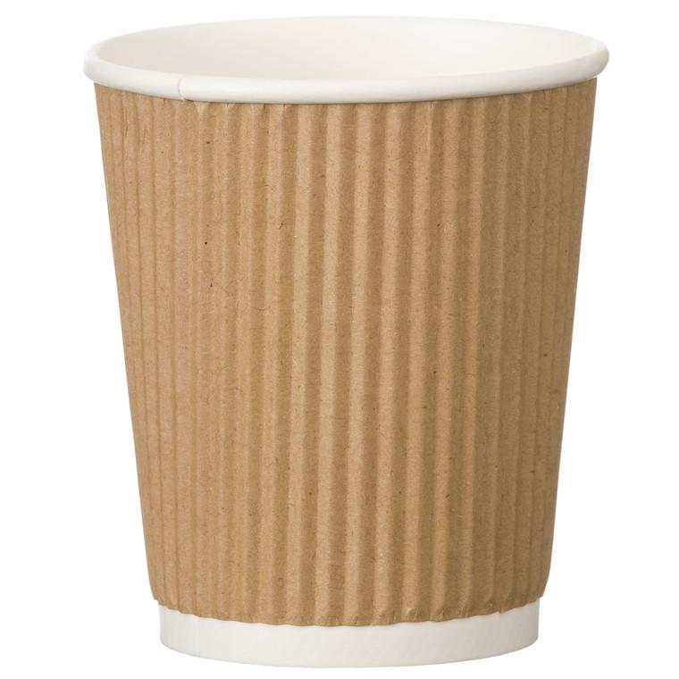 Kraft Ripple Cup 8oz - 1x500