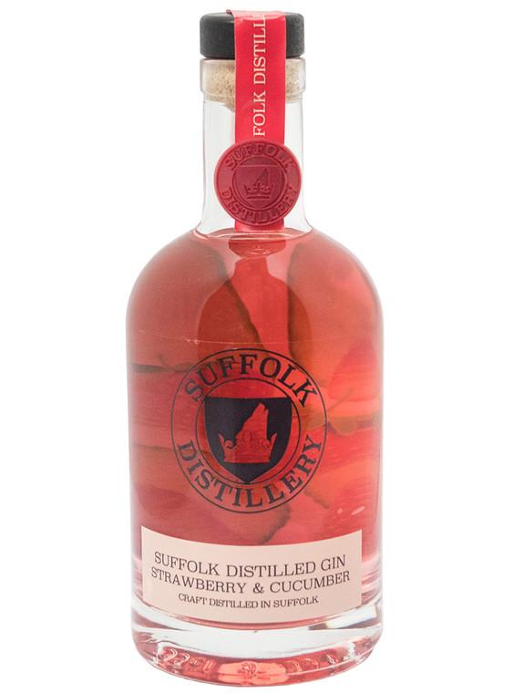 Suffolk Distillery Strawberry & Cucumber Gin 43% - 6x35cl