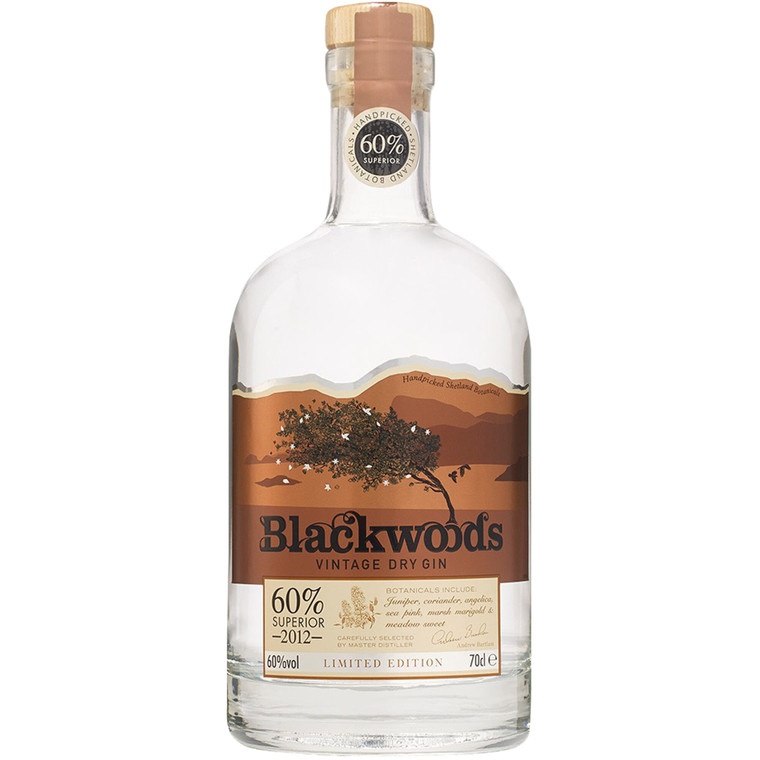 Blackwoods Vintage Dry Gin 60% - 1x70cl