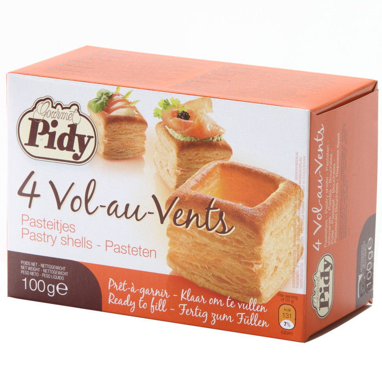 Pidy Square Vol Au Vent Pastry Shells - 12x4
