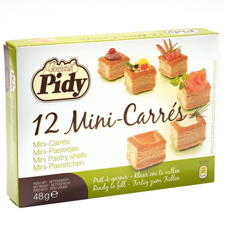 Pidy Mini Square 'Carre' Vol au Vents 3cm - 16x12