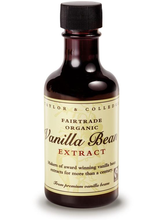 Taylor and Colledge Fairtrade Organic Vanilla Bean Extract - 6x100ml