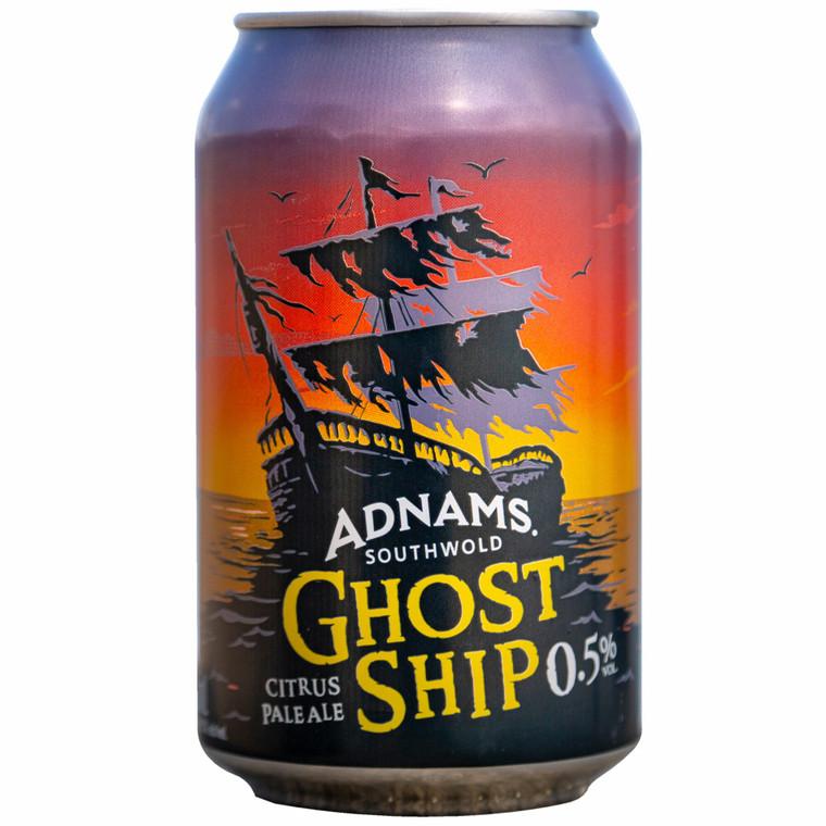 Adnams Ghost Ship Citrus Pale Ale 0.5% Cans - 6x4x330ml