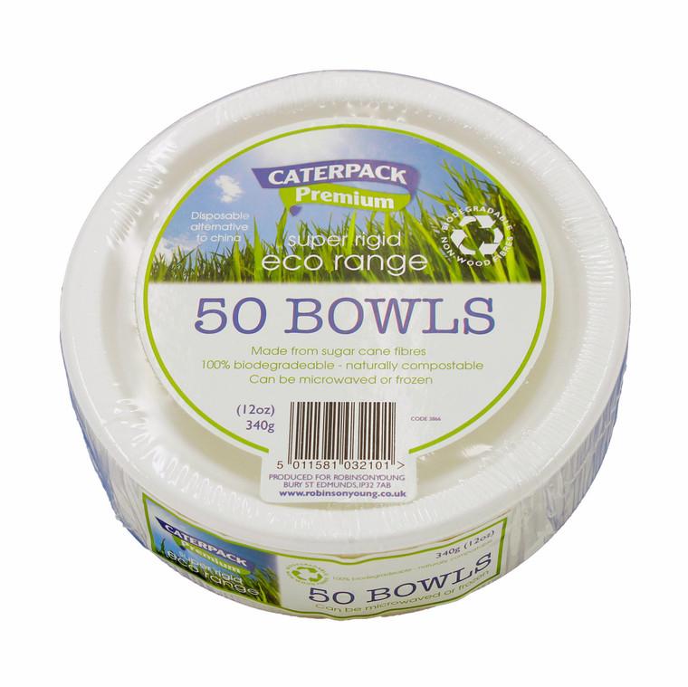 Eco Super Rigid Biodegradeable Bowl 12oz - 1x50