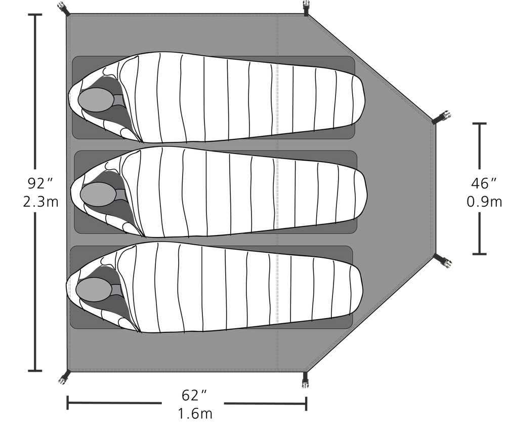 Sleeping Bay Dimensions and layout