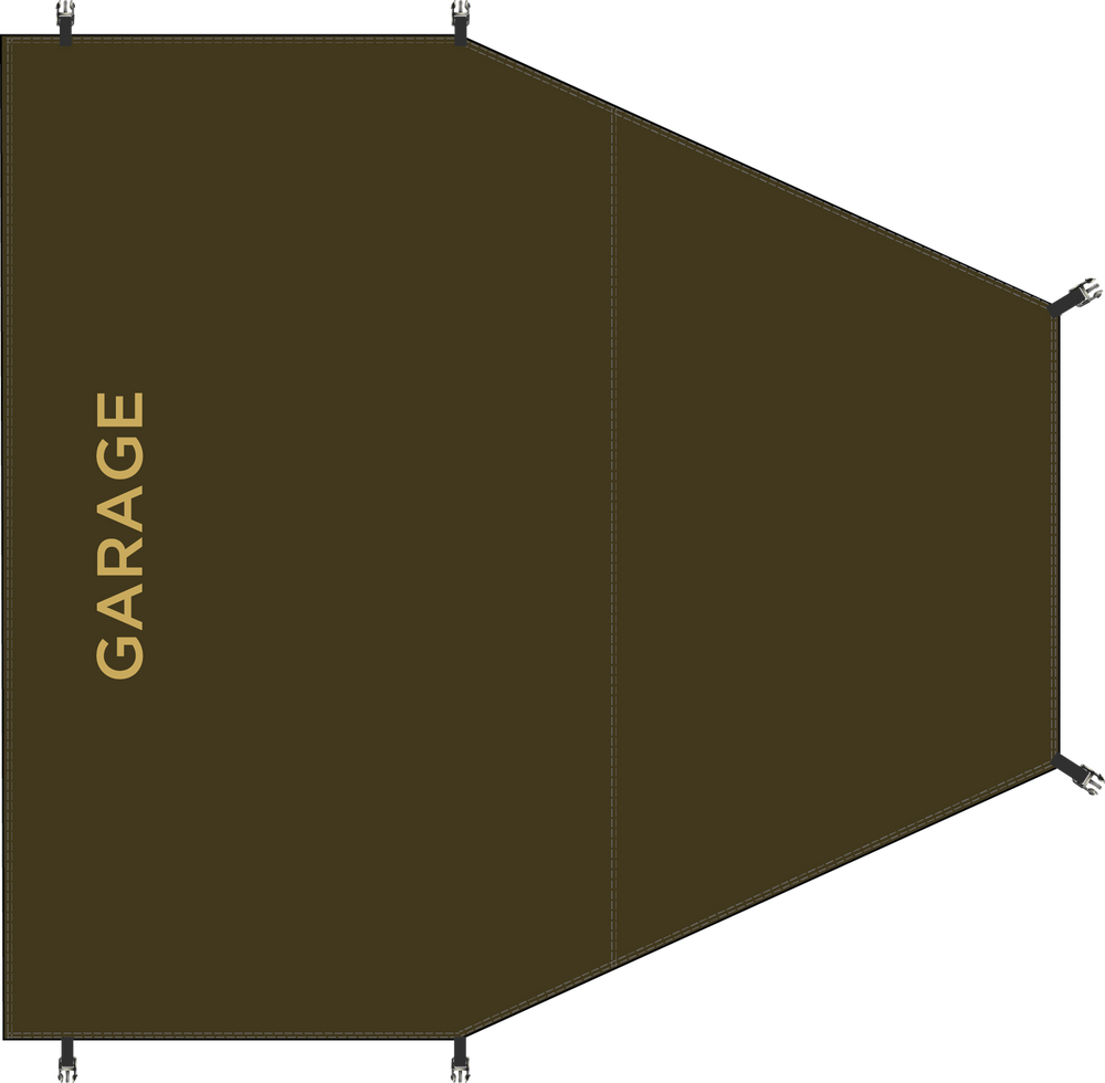 Garage area Groundsheet/Footprint for Redverz Atacama and Solo Expedition Tents. Perfect fit, clips in.