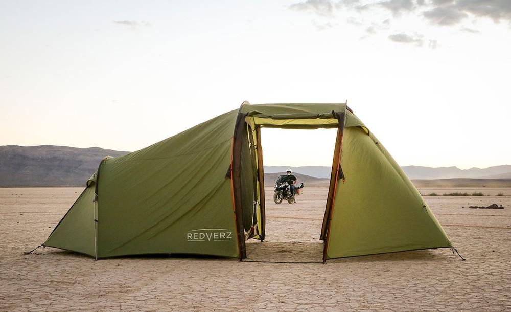 Redverz Atacama Expedition Motorcycle Tent Green