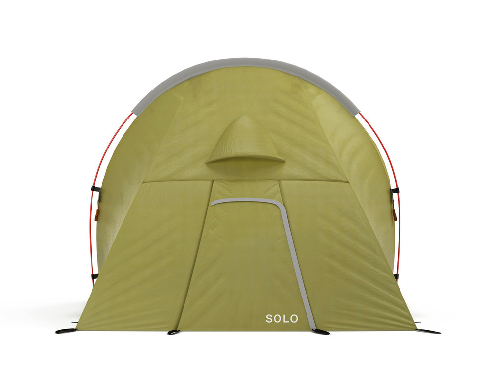 Solo Expedition Tent from Redverz, end view.