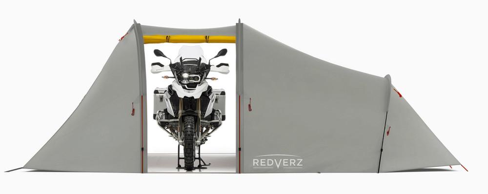 Redverz Atacama Expedition Motorcycle Tent Grey/Yellow