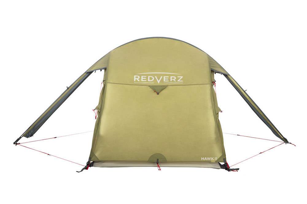 Hawk II Tent from Redverz with all vestibule doors open.