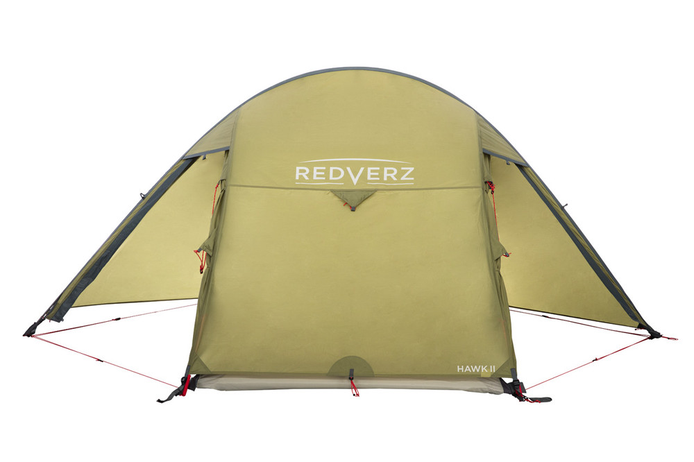 Configuration options for the tent doors of the Hawk II Tent.