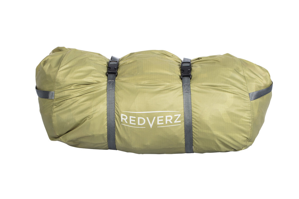 The pack size of the Hawk II Expedition Tent