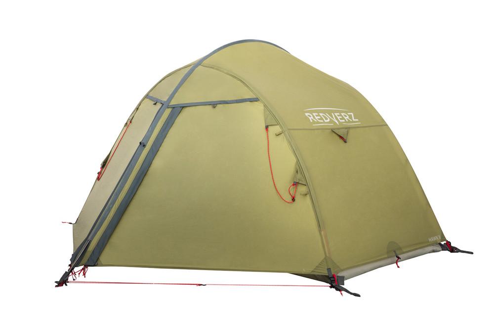 Redverz Hawk II Mountaineering Tent.  4 season, 2 person, freestanding tent in green.