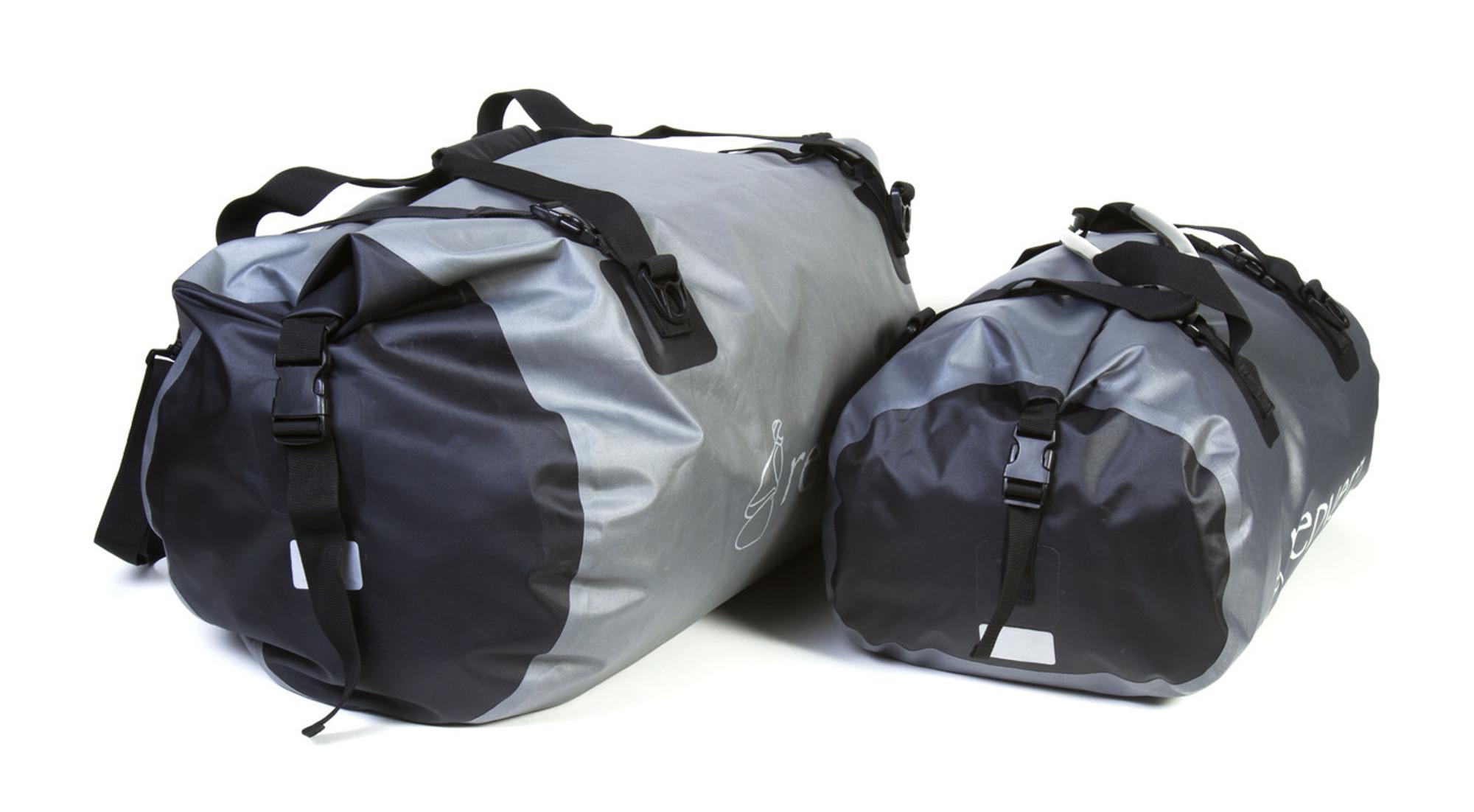 3d503243 ... 90 Liter Expedition Dry Bag Four tie down buckles Size comparison 90L  vs 50L .