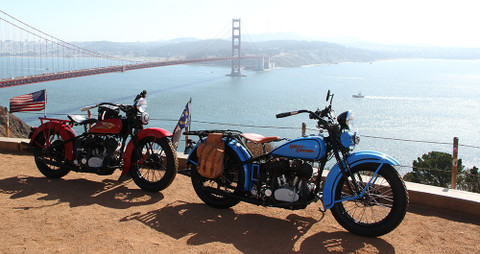 "Adventure Travel - Follow ""Panhead Jim"" Crossing USA from Coast to Coast  on his 1933 Harley and Atacama Tent"