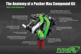 Pusher Max Compound Turbo System for 2004.5-2005 Duramax LLY Trucks
