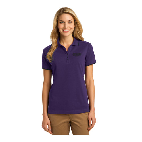 Ladies Purple/Navy Polo