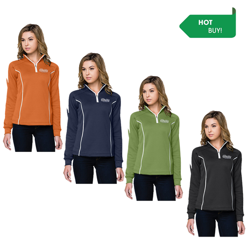Ladies Performance 1/4 Zip - Piping Accent