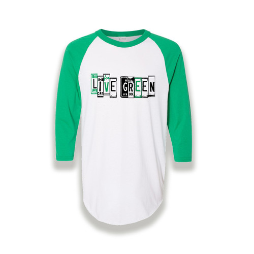 Live Green 3/4 Sleeve Athletic Tee