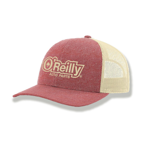 Red/Birch Low Pro Heathered Trucker Cap
