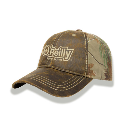 Faux Leathered Camo Cap