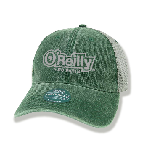 Unstructured Mesh Back Cap - Green/Grey