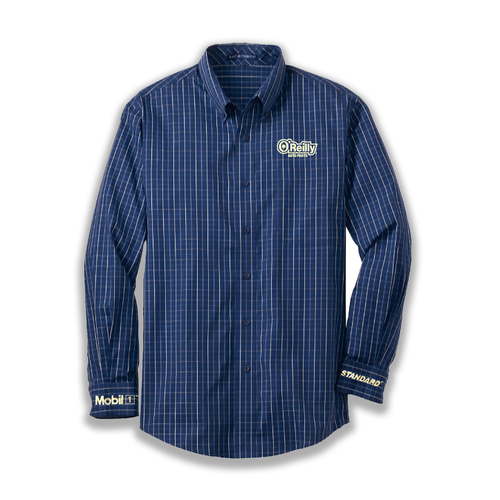 2020 Ladies O'Reilly Long Sleeve - Navy Tattersall