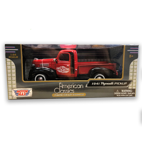 Red 1941 Plymouth Die Cast Truck in Presentation Gift Box