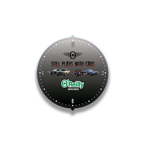 """""""Still Plays With Cars"""" Wall Clock"""
