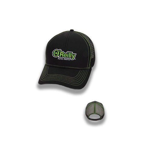 Performance Mesh Back Cap - Black/Lime