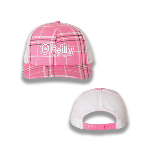 Pink Plaid Cap
