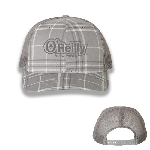 Grey Plaid Cap
