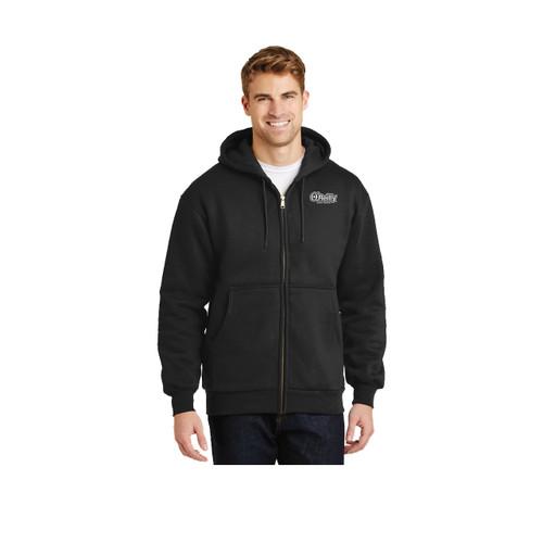 Mens Heavyweight Full-Zip Hooded Sweatshirt with Thermal Lining