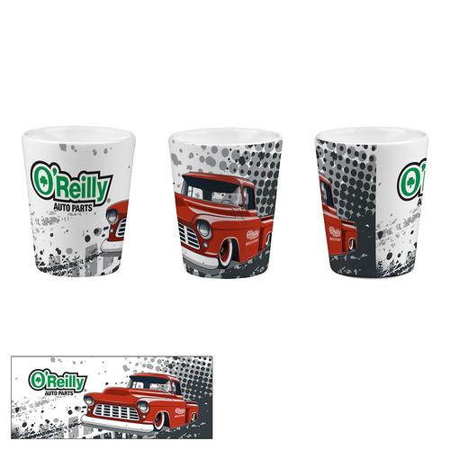 2 oz Ceramic Shot Glass - Truck
