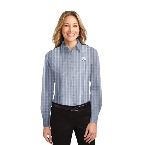2021 TALL Ladies First Call Long Sleeve - Grey Tattersall
