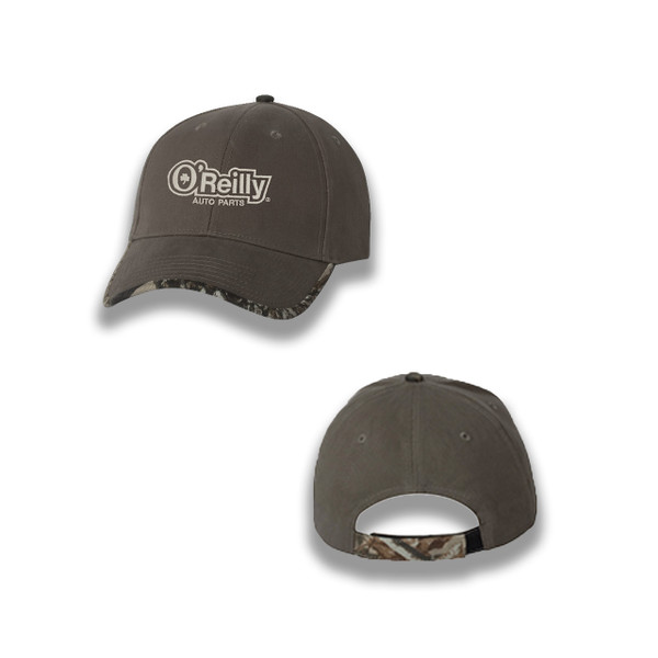 Olive Cap with Realtree Camo Bill