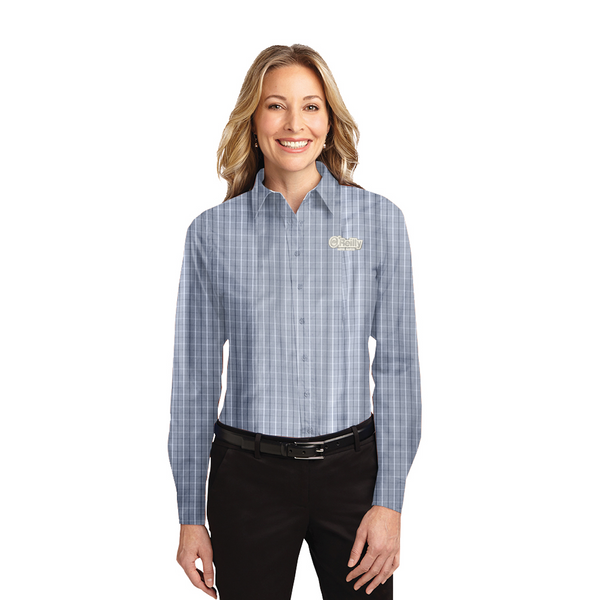 2021 TALL Ladies O'Reilly Long Sleeve - Grey Tattersall