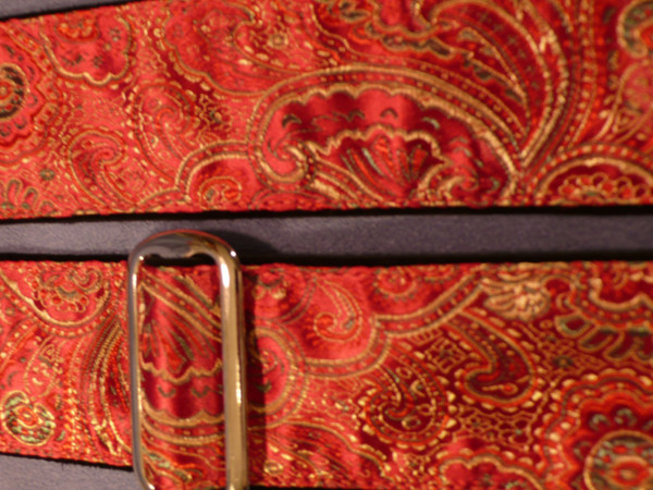Red and Gold Paisley