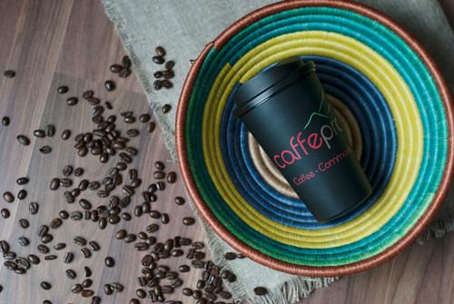 caffe praego bean and cup