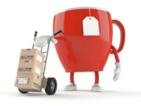 Deliveries and returns teacup