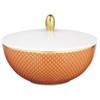 Orange Sugar Bowl, 4 3/5 inch, 6 4/5 ounce   Raynaud Uni Tresor