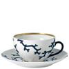 Breakfast Cup, 4 2/5 inch, 10 4/5 ounce | Raynaud Menton Cristobal - Marine