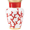 Shanghai Vase, 111 4/5 ounce   Raynaud Menton Cristobal - Coral